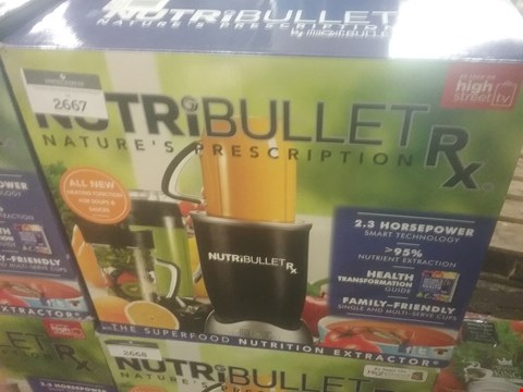 Lot 187 BOXED NUTRIBULLET RX NUTRITION EXTRACTOR WITH HEATING FUCTION FOR SOUPS AND SAUCES  RRP £199.99