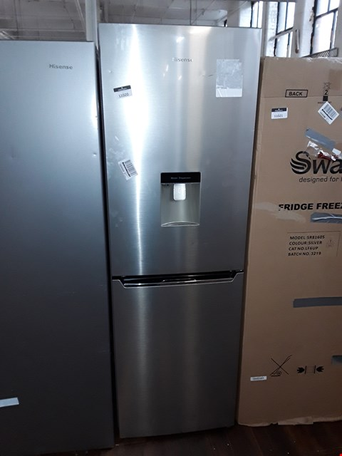 Lot 11020 HISENSE RB381N4WC1 FROST-FREE FRIDGE FREEZER WITH WATER DISPENSER - STAINLESS STEEL LOOK
