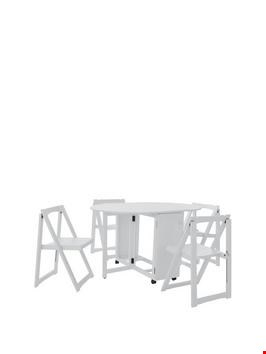 Lot 95 BOXED WHITE WOODEN BUTTERFLY CHAIRS SET OF 4