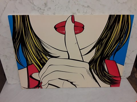 Lot 4004 SHUSH POP ART STYLE WALL ART - SOLMYRA