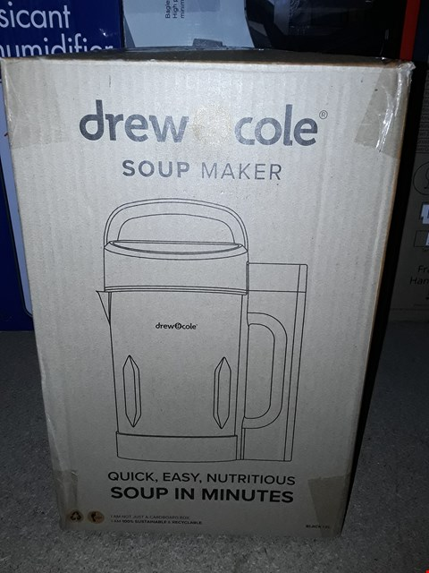 Lot 5259 DREW & COLE SOUP CHEF ESSENTIAL LIMITED EDITION PIANO BLACK 1.6L STAINLESS STEEL SOUP MAKER