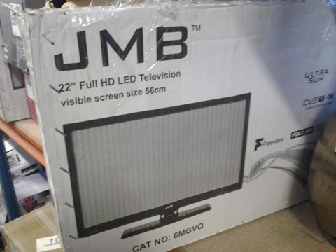 "Lot 216 JMB 22"" LCD TV WITH BUILT IN DVD PLAYER AND  REMOTE MODEL JT0122005B"