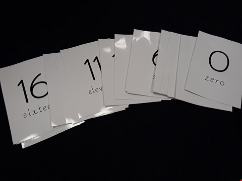 Lot 20 LEARN TO WRITE NUMBERS FLASHCARDS, 0-20