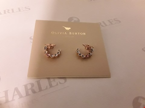 Lot 74 BOXED OLIVIA BURTON 18Kt ROSE GOLD PLATED EARRINGS RRP £65.00
