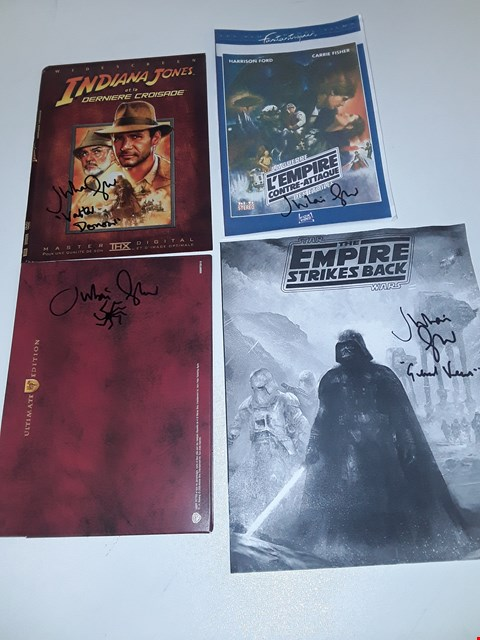 Lot 33 4 SIGNED ITEMS BY JULIAN GLOVER (STARWARS, INDIANA JONES, HARRY POTTER)