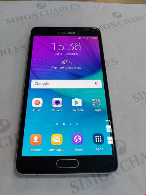 Lot 67 SAMSUNG NOTE 4 MOBILE PHONE 32GB