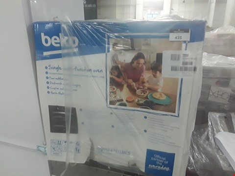 Lot 435 BOXED BEKO BQM24301BCS OVEN  RRP £250