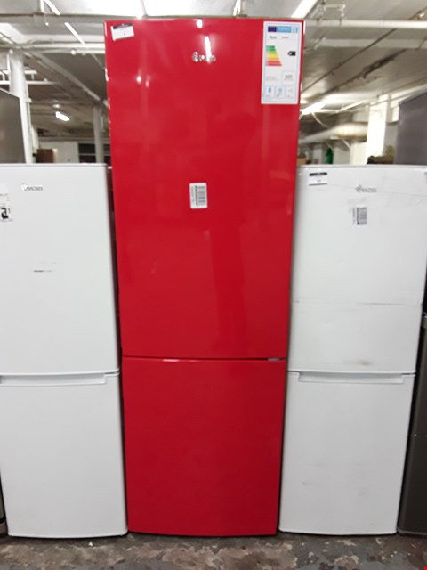 Lot 1 SWAN SR9054R FREESTANDING FROST FREE 70/30 FRIDGE FREEZER IN RED
