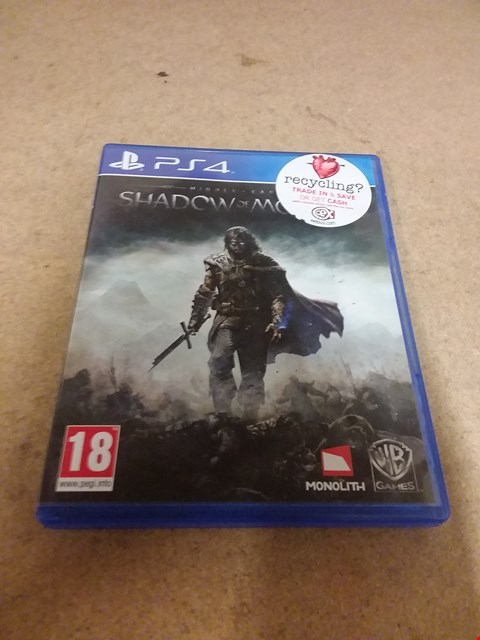 Lot 8193 MIDDLE EARTH SHADOW OF MORDOR PS4 GAME