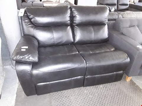 Lot 29 BLACK FAUX LEATHER MANUAL RECLINING TWO SEATER SECTION