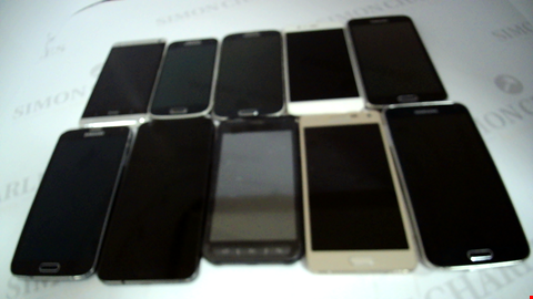 Lot 17369 LOT OF 10 ASSORTED MOBILE PHONES TO INCLUDE SAMSUNG AND HTC