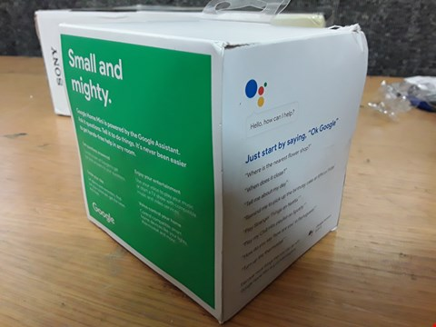 Lot 63 GOOGLE MINI HOME SMART SPEAKER RRP £65
