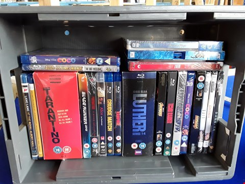 Lot 7690 BOX OF APPROXIMATELY 21 ASSORTED BLU-RAY TO INCLUDE LUTHER, COCO, JUMANJI, ZULU ETC