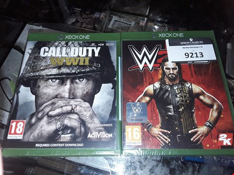 Lot 7178 BRAND NEW XBOX ONE W2K18 GAME AND CALL OF DUTY WWII  RRP £120