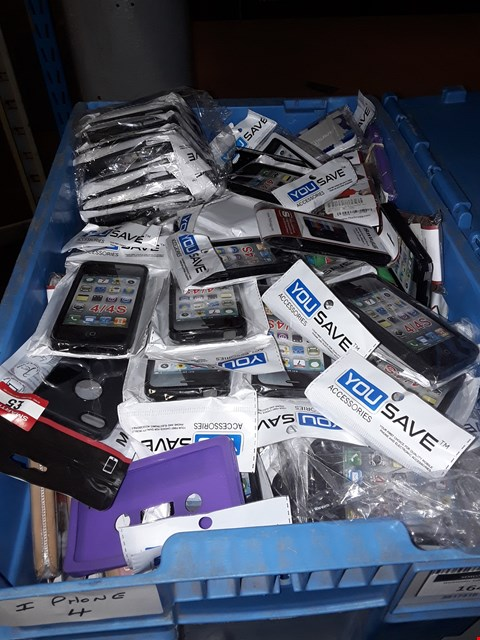 Lot 1643 BOX OF ASSORTED BRAND NEW IPHONE 4 CASES