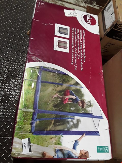 Lot 1312 PLUM PRODUCTS 8FT TRAMPOLINE AND ENCLOSURE RRP £215