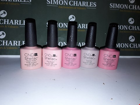 Lot 7 LOT OF 5 ASSORTED CND SHELLAC