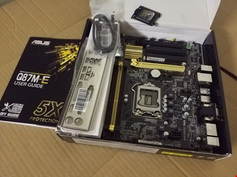 Lot 8018 ASUS Q87M-E MOTHETBOARD