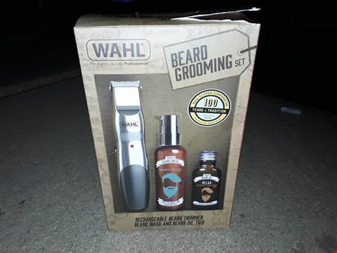 Lot 259 WAHL BEARD GROOMING SET WITH RECHARGEABLE TRIMMER