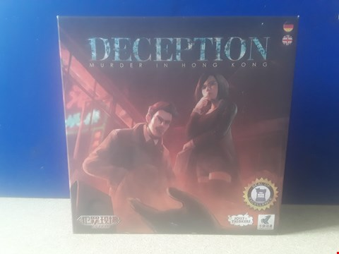 Lot 5007 BOXED JOLLY THINKERS DECEPTION: MURDER IN HONG KONG GAME