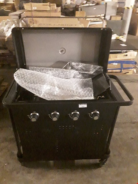 Lot 9485 ROCKWELL 400 4-BURNER BLACK GAS BARBECUE  RRP £325.00