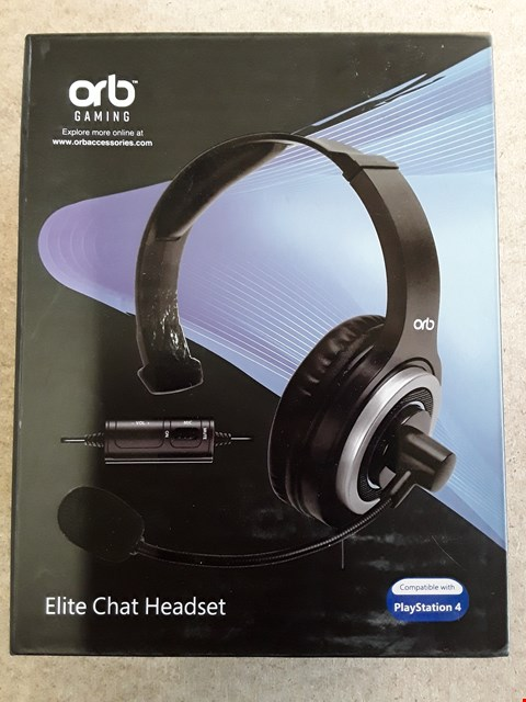 Lot 139 BRAND NEW BOXED ORB PS4 ELITE CHAT HEADSET