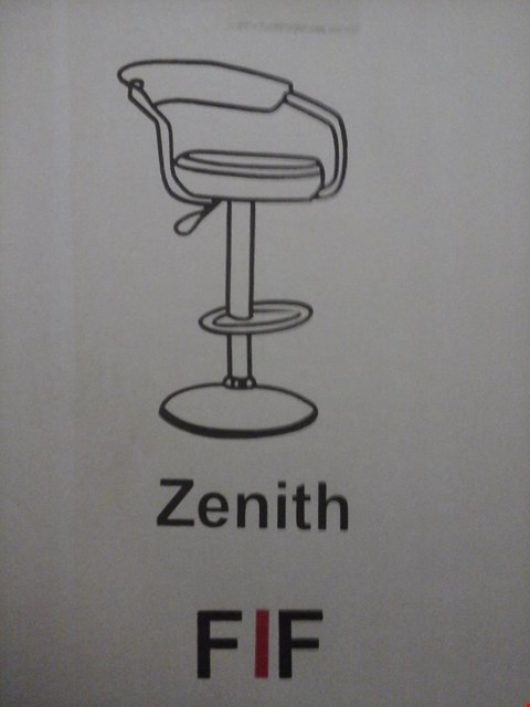 Lot 6029 FURNITURE IN FASHION 2 ZENITH GAS BAR STOOLS IN BLACK ( 1 BOX )