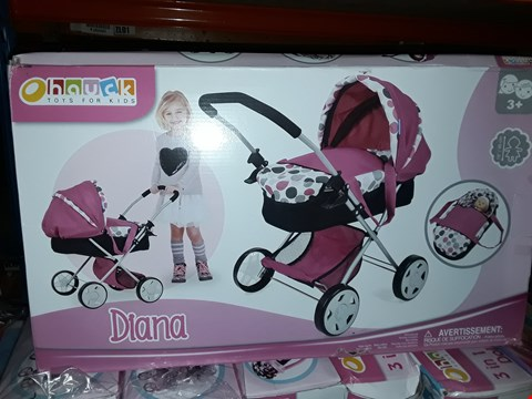 Lot 6056 BOXED GRADE 1 DIANA 2-IN-1 PRAM AND CARRY COT