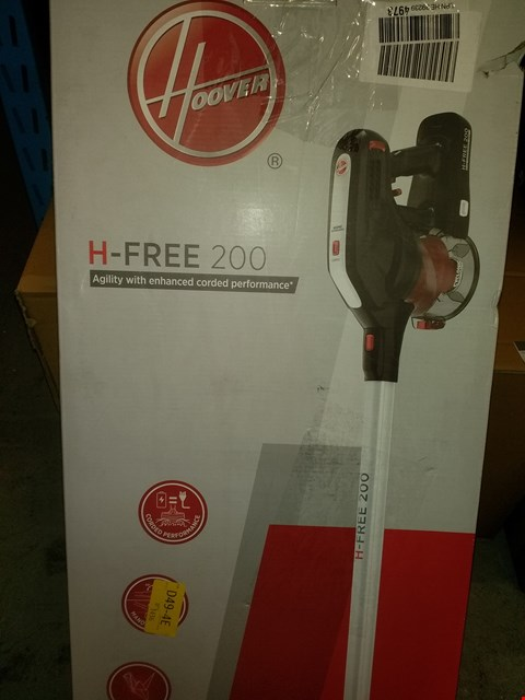Lot 1908 HOOVER H-FREE 200 3IN1 CORDLESS STICK VACUUM CLEANER, HF222RH, LIGHTWEIGHT, POWERFUL, 22V, AGILE, SILVER