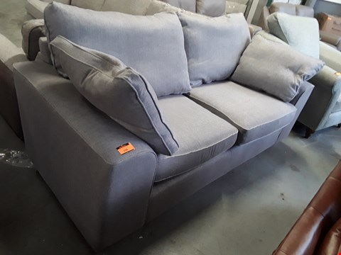 Lot 156 QUALITY BRITISH DESIGNER GREY FABRIC 3 SEATER SOFA