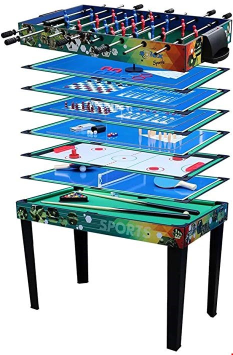 Lot 114 BOXED 7-IN-1 MULTIFUNCTION GAMES TABLE.  RRP £249.99