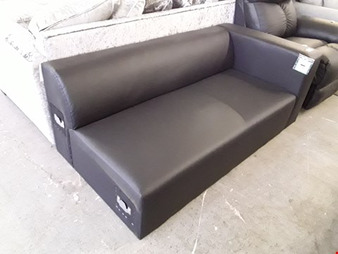 Lot 9 DESIGNER BLACK FAUX LEATHER TWO SEATER SECTION