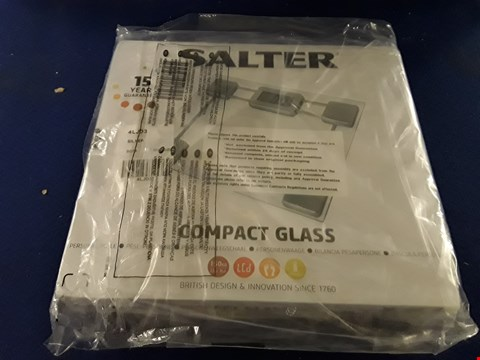 Lot 8731 SALTER COMPACT GLASS ELECTRONIC PERSONAL SCALES RRP £25.00