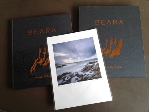 Lot 7 NORMAN MCCLOSKEY BEARA PHOTOGRAPHY BOOK IN PRESENTATION SLEEVE. INCLUDES LIMITED EDITION SIGNED PRINT