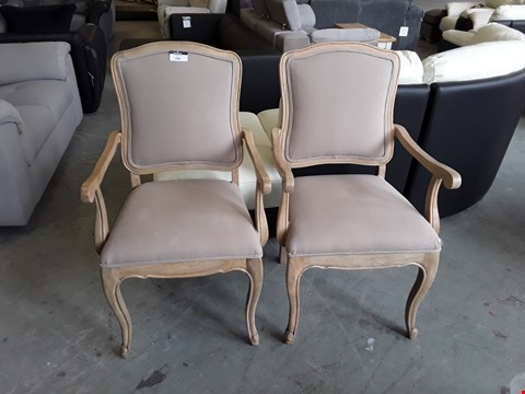 Lot 104 TWO DESIGNER VINTAGE STYLE DINING CHAIRS