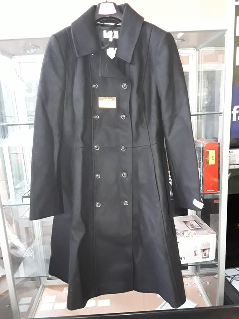 Lot 4152 BRAND NEW LADIES DESIGNER SOMERSET BLACK ITALIAN CASHMERE FABRIC DOUBLE BREASTED COAT Size 16 RRP £299.00