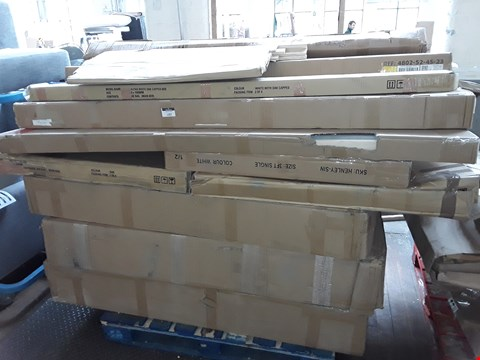 Lot 1397 PALLET OF ASSORTED FLAT PACK FURNITURE TO INCLUDE BED FRAMES AND BED PARTS