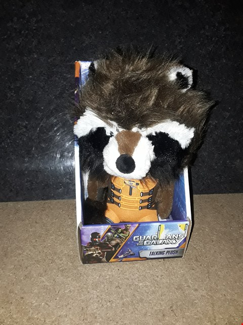 Lot 3009 GUARDIANS OF THE GALAXY TALKING ROCKET PLUSHIE