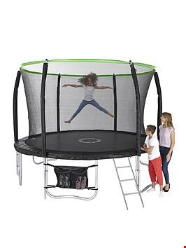 Lot 165 BOXED SPORTSPOWER 12FT TITAN TRAMPOLINE AND ENCLOSURE WITH LADDER AND SHOE BAG (4 BOXES) RRP £299