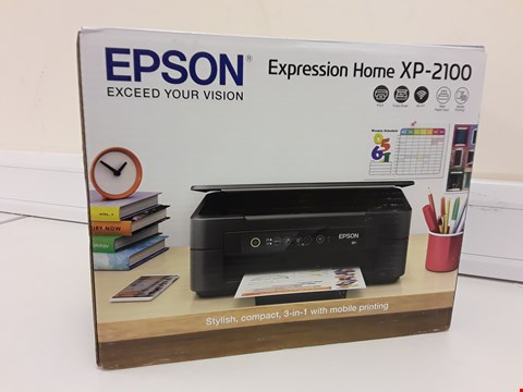 Lot 284 BOXED EPSON EXPRESSION HOME XP-2100 3 IN 1 PRINTER