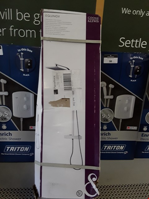 Lot 48 BOXED COOKE & LEWIS EQUINOX THERMOSTATIC MIXER SHOWER  RRP £130.00