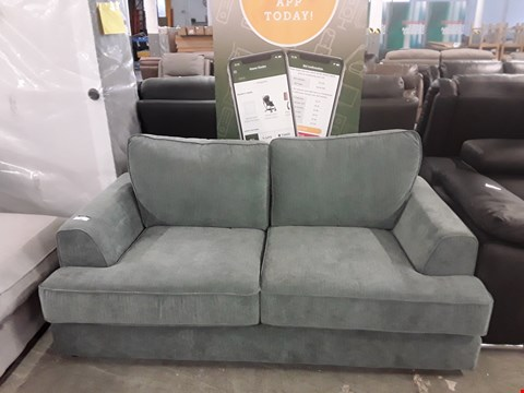 Lot 49 DESIGNER GREY FABRIC 2 SEATER SOFA