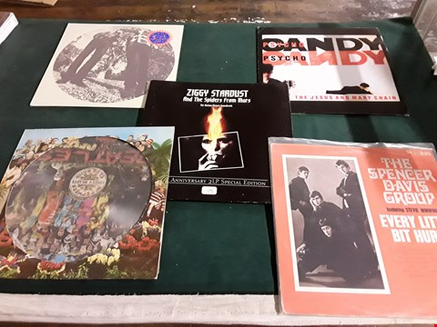 Lot 49 LOT OF 9 ASSORTED VINYL RECORDS TO INCLUDE; THE BEATLES, DAVID BOWIE, SPENCER DAVIS GROUP ETC