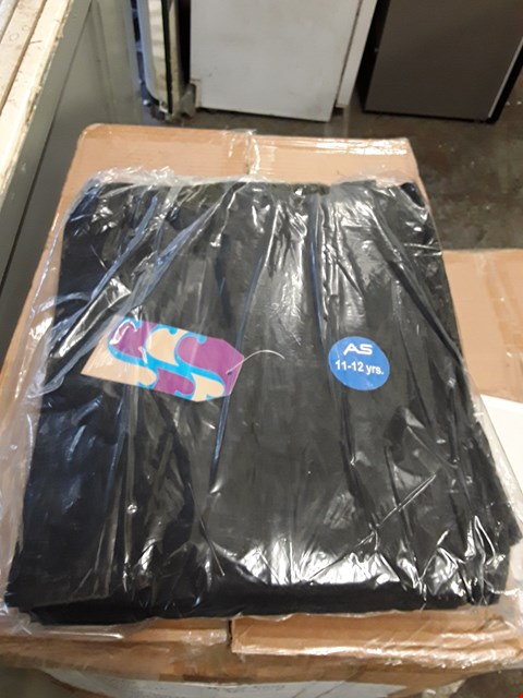Lot 1207 BOX OF APPROXIMATELY 100 PAIRS OF BOYS BLACK PANTS