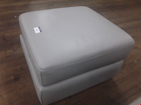 Lot 624 QUALITY ITALIAN GREY LEATHER UPHOLSTERED SENSOR STORAGE FOOTSTOOL