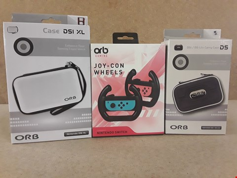 Lot 365 3 BRAND NEW BOXED ORB ITEMS TO INCLUDE: JOY-CON WHEELS AND TWO CARRY CASES