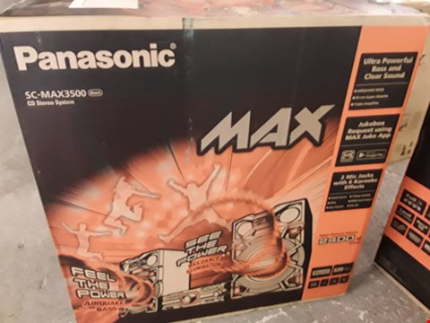 Lot 267 PANASONIC SC-MAX3500EK CD STEREO SYSTEM RRP £719.95