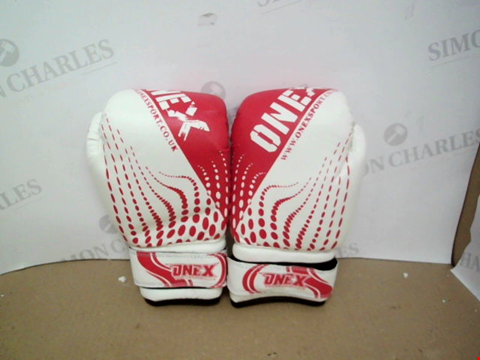 Lot 10541 PAIR OF ONEX SPORT BOXING GLOVES