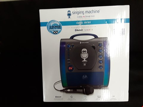 Lot 47 GRADE 1 BOXED THE SINGING MACHINE CASSIC SERIES BLUETOOTH KARAOKE SYSTEM RRP £89.99