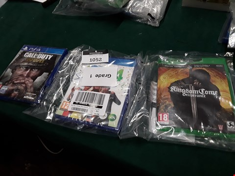 Lot 1052 LOT OF THREE ASSORTED VIDEO GAMES TO INCLUDE KINGDOM COME DELIVERANCE FOR XBOX ONE, THE SIMS 4 FOR PS4 AND CALL OF DUTY WWII FOR PS4